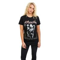 Blondie - Ladies - Rock - T-shirt - Fade Away - Black - Sizes S,M,L,XL