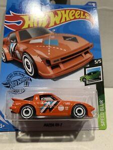 Hot Wheels Mazda Rx-7 SPEED BLUR 5/5 (ORANGE) SEALED UNOPENED 140/250 HTF !!!!!!