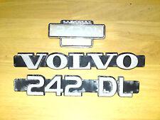 originale alte Volvo 242 DL 2.1 Emblem Badge Logo Schriftzug Typzeichen
