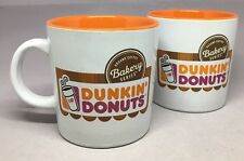 "Set of TWO Bakery Series ""DUNKIN DONUTS"" Ceramic Promo Coffee Mugs 12oz Cups"