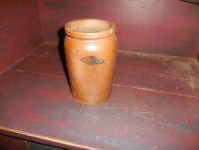 "Baltimore Stoneware Jar 8 1/2"" 1/2 Gallon Small Cobalt Blue Design"