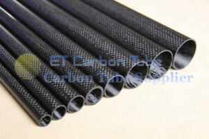 Carbon Fiber Tube 3K 27mm x 25mm x 1000mm Roll Wrapped Glossy Tube For Airplane