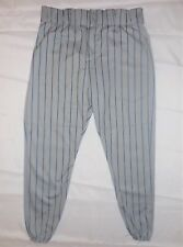 white and navy pinstripes Alleson 605PINY Baseball Pants size Adult Small