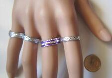 Lote 4 anillos aluminio colores nº 8 ó 17 mm diámetro medio bisutería r-27