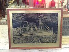 Quadro in ottone vecchia marina antica marina stile marina originale