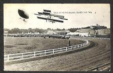 RPPC AVIATION BLIMP AIRPLANE FAIR BEAVER DAM WISCONSIN REAL PHOTO POSTCARD 1911