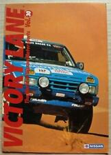 VICTORY LANE NISSAN MOTOR SPORTS Vol 30 Brochure Mar 1993 PARIS DAKAR RALLY