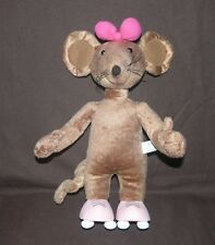 """13"""" Character Options Ltd Scratchy from """"Rastamouse"""" on Roller Skates Soft Toy"""