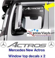 Mercedes actros next gen truck stickers window top vinyl decals x 2.