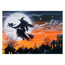 ( Halloween Cat ) - 5D DIY Full Drill Diamond Painting Witch Cross Stitch Kit