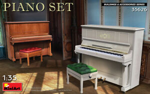Miniart 35626 Piano Set contains box models of two pianos model, 1:35 scale