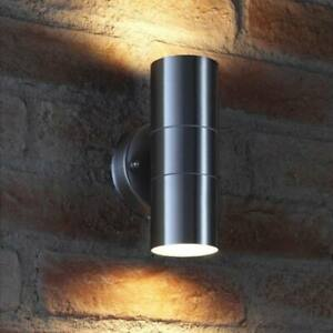 GU10 LED Up Down Double Outdoor Garden Wall Light Stainless Steel IP65 Exterior