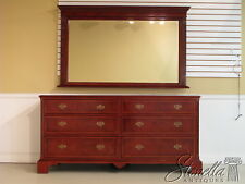 21483/20951: Williamsburg Collection Inlaid Mahogany Dresser w. Mirror ~ New