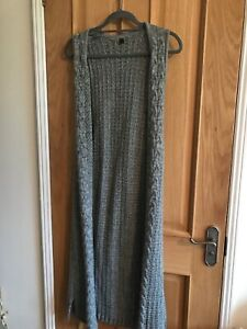 Womens Long Grey Cadigan Size One Size