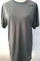 MENS NIKE PRO TIGHT FITTED Short SLEEVE TRAINING SHIRT DRI-FIT Large Gray READ!!