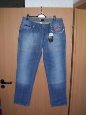 Herren Jeans Jeanshose hellblau blau used look Knopfleiste Nieten W38 L34 neu