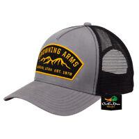 NEW BROWNING RANGER MESH BACK HAT BALL CAP BUCKMARK ARMS PATCH LOGO GRAY