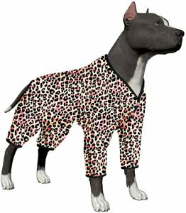 LovinPet Winter Night Warm Big Dog Pjs/Pet Anxiety Relief/Full Coverage Dog Pjs