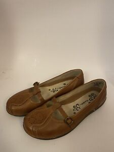 """Women's 7M Thom McAn """"DUBLIN"""" Leather Mary Jane slip on Flats Shoes"""