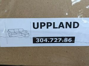 UPPLAND Cover for sofa and chaise (COVER ONLY) / Hallarp Gray 304.727.86 - New