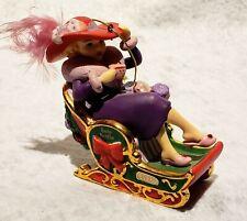 "Vintage 2007 Danbury Mint Red Hat Society ""Winter Sleigh"" 'Christmas Ornament"