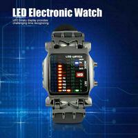 Luxus herren Edelstahl Uhr LED Sport Datum Digitale Armbanduhren S2E3 Armba O9Y4