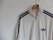 Vintage Adidas trefoil tracksuit jacket | L/XL | Cream Navy Firebird Originals