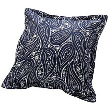 "New CHAPS Home ALLISTAIR 26x26"" EURO Pillow Sham. White/Navy Чехол Для Подушки"