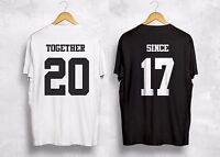 Together Since Any Year T Shirt Personalized Custom Valentines Gift Couple Wifey
