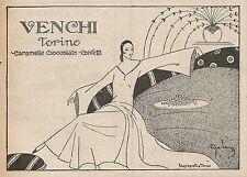 Z0156 Caramelle VENCHI - Torino - Illustrazione - Pubblicità del 1926 - Advert.