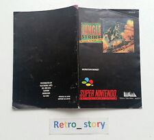 Super Nintendo SNES Jungle Strike Notice / Instruction Manual