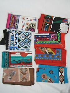 Lot of 8 Vtg Southwest Native American Bandana USA Made 50/50 Wamcraft Hanky