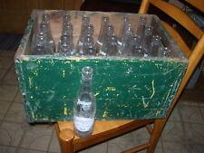Wooden Case & 24 Soda Bottle~Manitowoc Tastee Beverages~Manitowoc Bottling Works