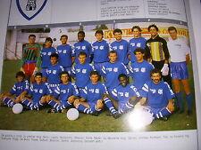FOOTBALL COUPURE LIVRE PHOTO COULEUR 20x10 D2 GrA SC BASTIA 1989/1990