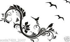 Floral Vine Swirl With Birds Wall Car Truck Window Decal Funny Summer Vinyl