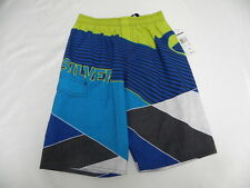 Quiksilver Boys Beach Day Boardshorts Volley Blue Short Sz M/12 New Surf Kids