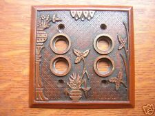 "New ""Broken Leaf"" Double Push Button Plate"
