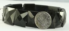 Stretchy Bracelet - Restring Genuine Victorian Antique Whitby Jet