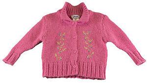 JACADI Girl's Aquilin Bengal Pink Long Sleeve Cardigan Sz: 8 Years NWT $94