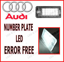 Audi A4 B7 2007 número de matrícula 18 Led Light Bulbs lámparas Xenon Blanca