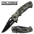 Tac Force TF-765DG  Speedster Linerlock Black Camo New