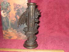 Fantasy/Gothic Dragon Brass-Like Single Candle Holder A - New In Box!