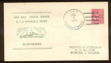 USS Charles S. Sperry (DD-697) Destroyer 1950 naval Cover Nicholson Cachet N780