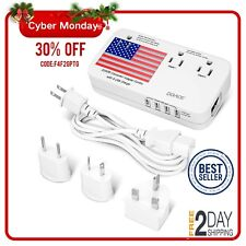 Doace 2200W Voltage Converter and Adapter with 4-Port Usb,Step Down 220V to 110V