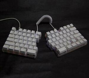 Split Macro Keyboard 78keys White Mechanical Multi- Modes LED Backlight Programm