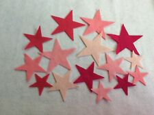 FELT  stars pink colours x 15  applique card making sewing craft