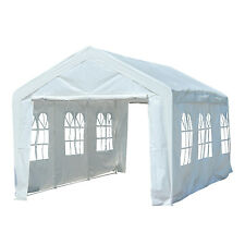 10'x20' Heavy Duty Wedding Party Tent Gazebo Carport Canopy w/ 2 Sidewalls