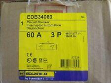 Edb34060 Square D Circuit Breaker 3 Pole 60 Amp *New*
