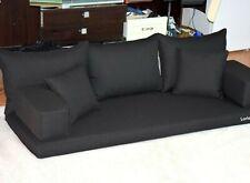 Black Oriental Floor Seating Sofa Arabic Couche cushions Turkish Indoor Yoga Set