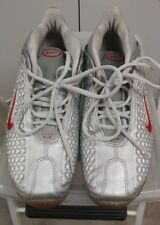 Pre Owned 2003 NIKE AIR MAX PRO BOWL METALLIC SILVER/RED sz 9.5 307023 061*****